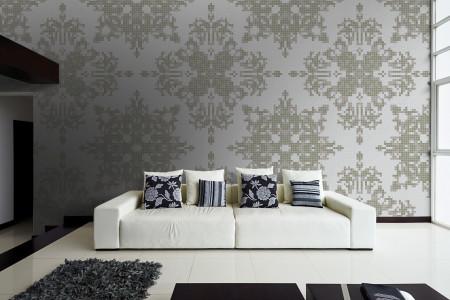 neutral textiles Traditional Ornamental Mosaic installation by Artaic