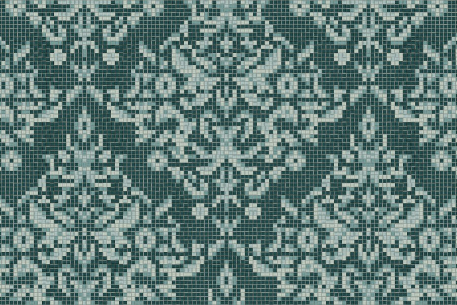 Turquoise textiles Traditional Ornamental Mosaic by Artaic