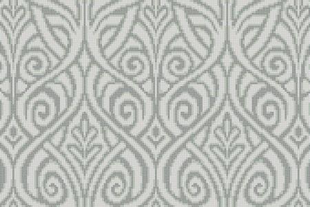 white textiles Traditional Ornamental Mosaic by Artaic