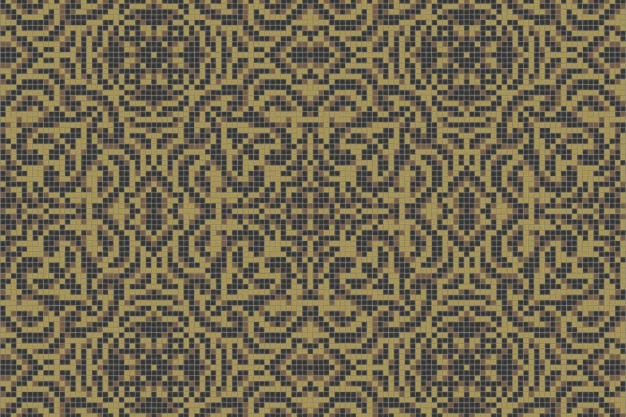 yellow textiles Traditional Ornamental Mosaic by Artaic