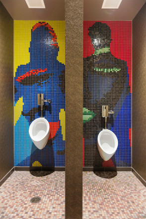 01133002 Envoy Autograph Hotel Bathroom Mosaic Silhouette Tile Mural | Artaic