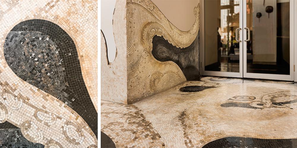 01133021 Ostra Restaurant Custom Mosaic Tile Octopus Floor | Artaic