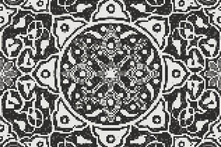 black flowing vines Traditional Ornamental Mosaic by Artaic black flowing vines Traditional Ornamental Mosaic installation by Artaic black flowing vines Traditional Ornamental Mosaic installation by Artaic