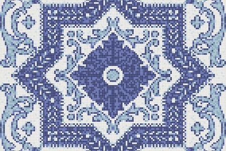 blue flowing vines Traditional Ornamental Mosaic by Artaic blue flowing vines Traditional Ornamental Mosaic installation by Artaic blue flowing vines Traditional Ornamental Mosaic installation by Artaic