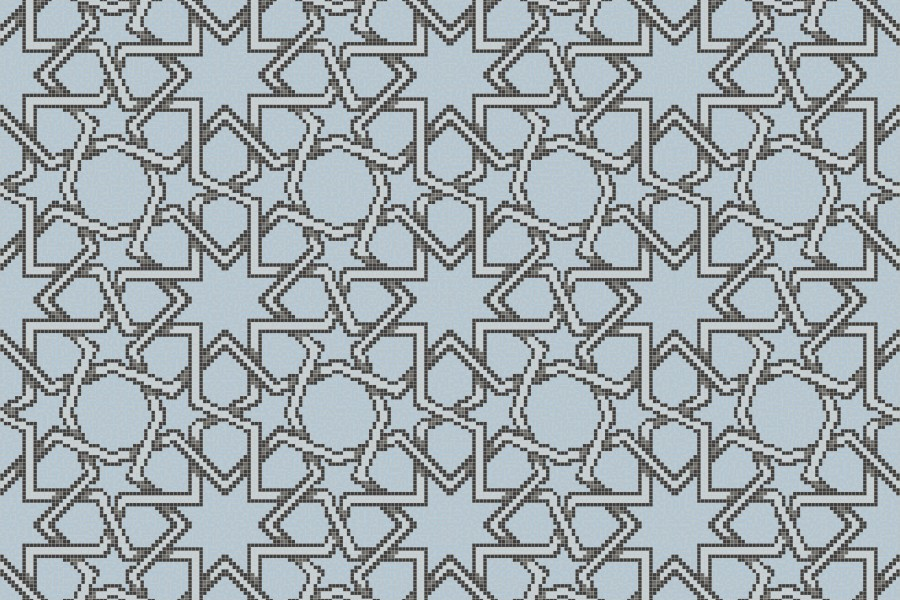 blue flowing vines Traditional Geometric Mosaic by Artaic blue flowing  vines Traditional Geometric Mosaic installation by