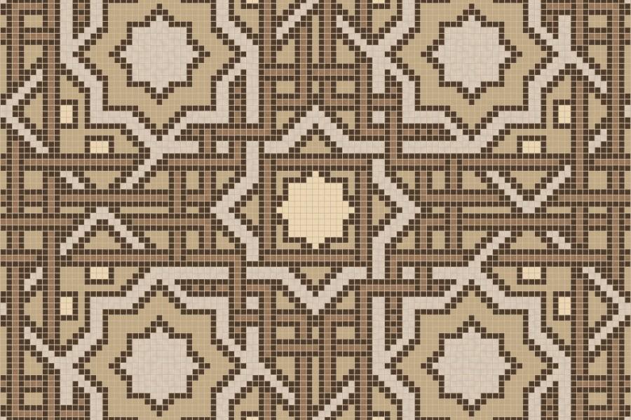 brown flowing vines Traditional Geometric Mosaic by Artaic brown flowing vines Traditional Geometric Mosaic installation by Artaic brown flowing vines Traditional Geometric Mosaic installation by Artaic