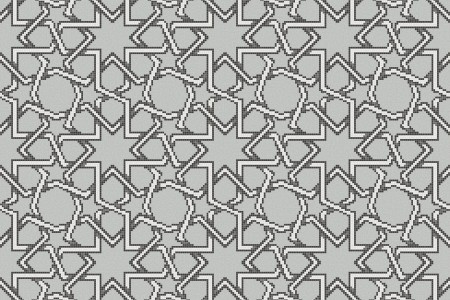 gray flowing vines Traditional Geometric Mosaic by Artaic