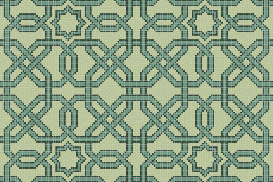 green flowing vines Traditional Geometric Mosaic by Artaic green flowing vines Traditional Geometric Mosaic installation by Artaic green flowing vines Traditional Geometric Mosaic installation by Artaic