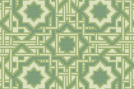 green flowing vines Traditional Geometric Mosaic by Artaic
