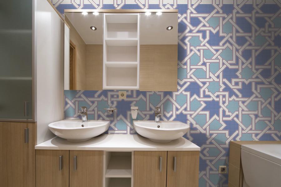 Blue Flowing Vines Tile Pattern   Intricate Weave Starshine By Artaic