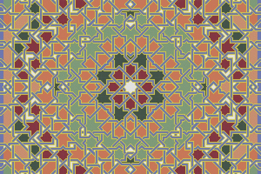 multi flowing vines Traditional Geometric Mosaic by Artaic multi flowing vines Traditional Geometric Mosaic installation by Artaic multi flowing vines Traditional Geometric Mosaic installation by Artaic