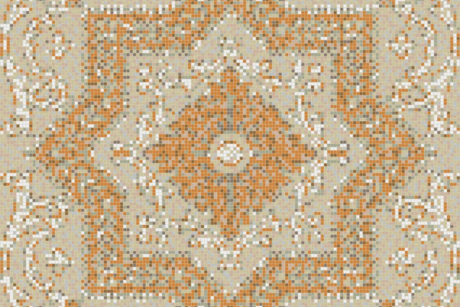 neutral flowing vines Traditional Ornamental Mosaic by Artaic
