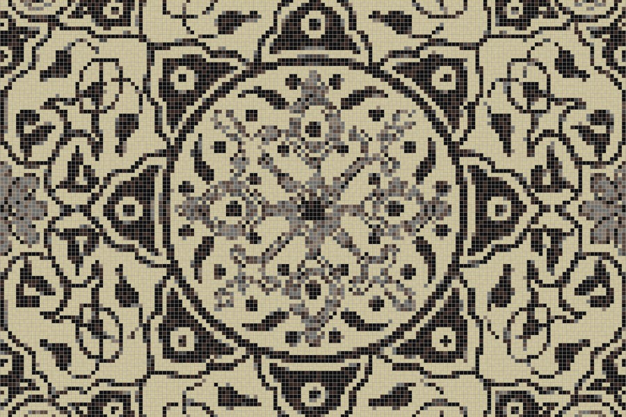neutral flowing vines Traditional Ornamental Mosaic by Artaic neutral flowing vines Traditional Ornamental Mosaic installation by Artaic neutral flowing vines Traditional Ornamental Mosaic installation by Artaic