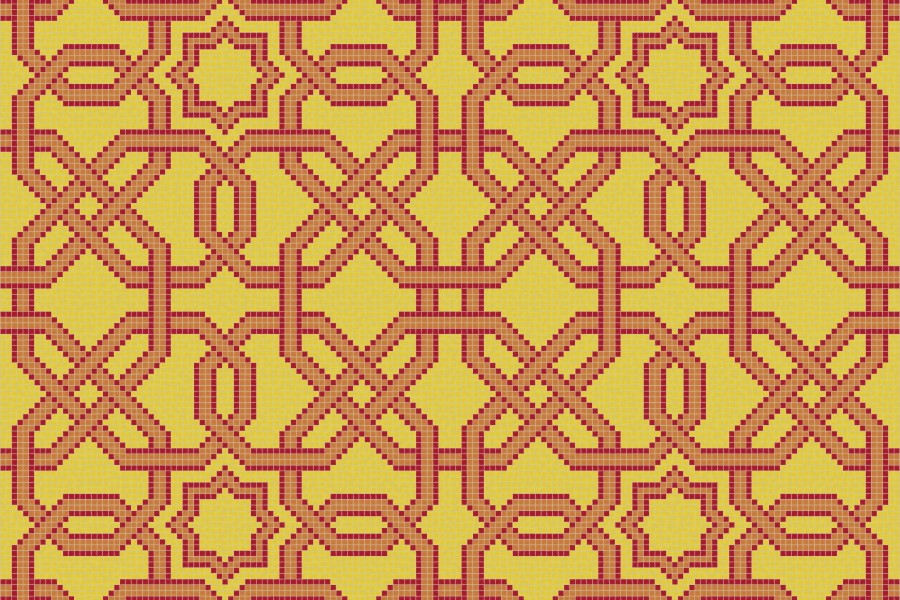 Orange flowing vines tile pattern gentle weave flame by for Geometric garden designs