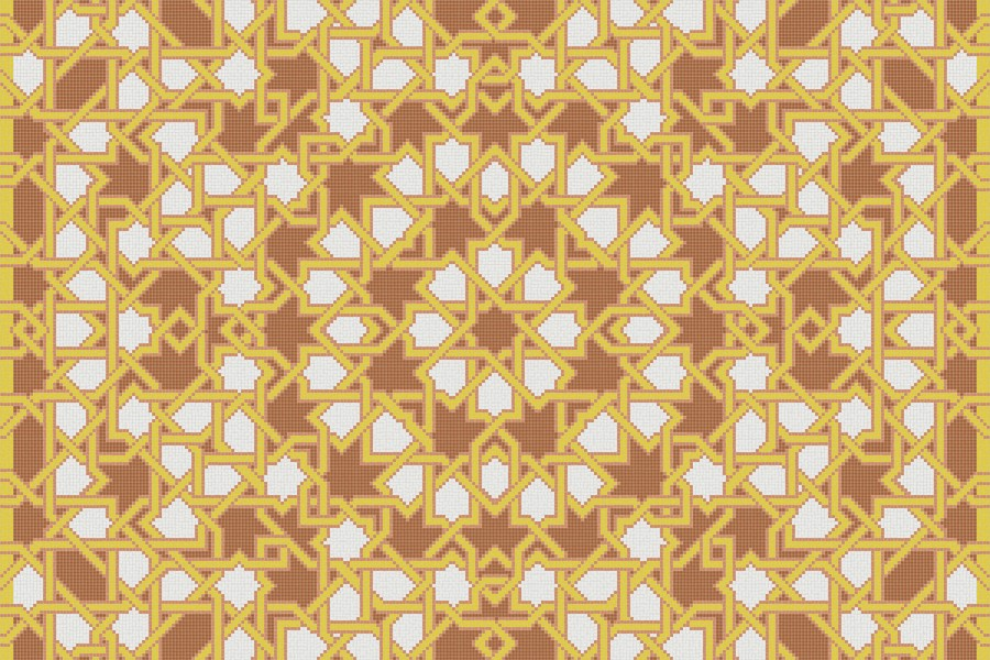 orange flowing vines Traditional Geometric Mosaic by Artaic orange flowing vines Traditional Geometric Mosaic installation by Artaic orange flowing vines Traditional Geometric Mosaic installation by Artaic