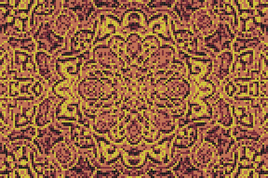 orange flowing vines Traditional Ornamental Mosaic by Artaic orange flowing vines Traditional Ornamental Mosaic installation by Artaic orange flowing vines Traditional Ornamental Mosaic installation by Artaic