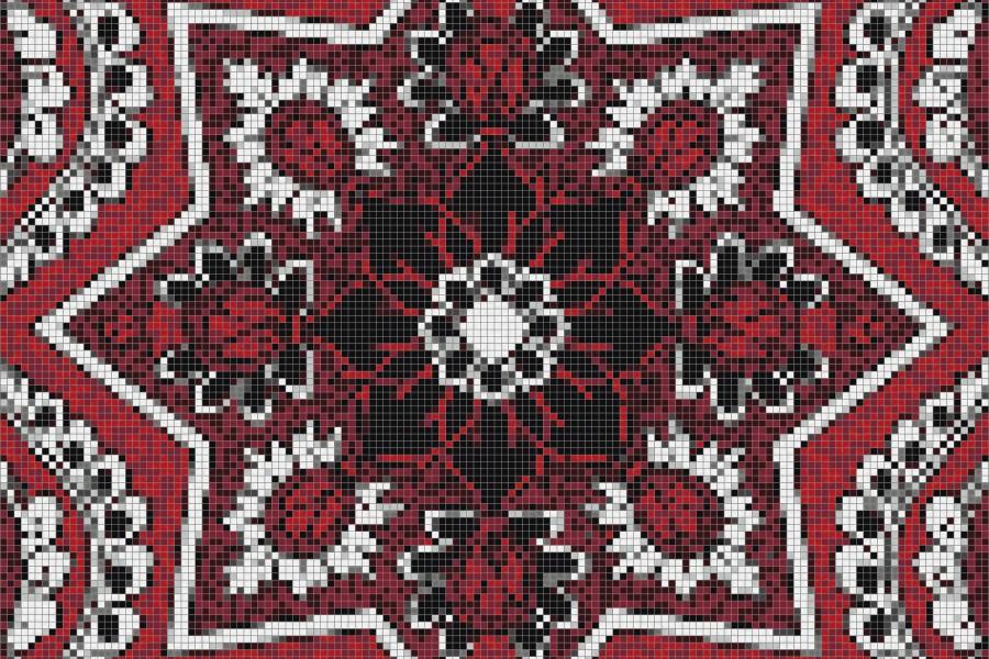 red flowing vines Traditional Ornamental Mosaic by Artaic red flowing vines Traditional Ornamental Mosaic installation by Artaic red flowing vines Traditional Ornamental Mosaic installation by Artaic