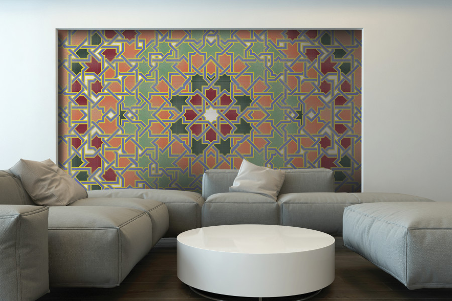 Multi Flowing Vines Tile Pattern | Intricate Weave Spectrum By Artaic