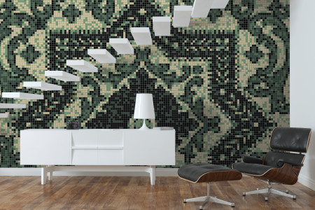 Artaic's Expanse Garden mosaic Pattern installed in a Residential living-room
