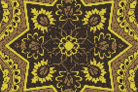 yellow flowing vines Traditional Ornamental Mosaic by Artaic yellow flowing vines Traditional Ornamental Mosaic installation by Artaic yellow flowing vines Traditional Ornamental Mosaic installation by Artaic