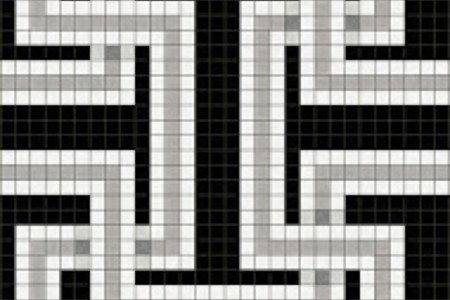 black greek key Traditional Geometric Mosaic by Artaic