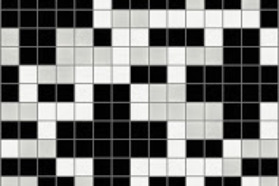 Black Pixels Tile Pattern | Positive Vibes Lunar By Artaic