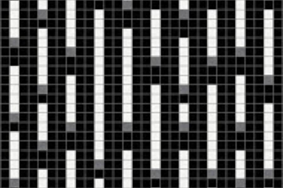 Black Pixels Traditional Geometric Mosaic By Artaic Black Pixels Traditional Geometric Mosaic Installation By Artaic Black