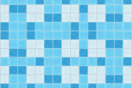 blue basket weave Traditional Geometric Mosaic by Artaic