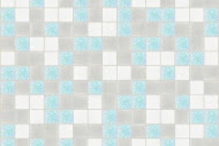 blue blend Traditional Geometric Mosaic by Artaic