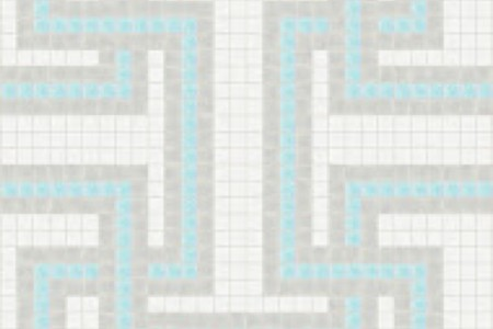 blue greek key Traditional Geometric Mosaic by Artaic blue greek key Traditional Geometric Mosaic installation by Artaic blue greek key Traditional Geometric Mosaic installation by Artaic
