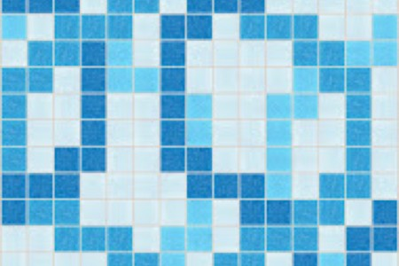 blue lattice Traditional Geometric Mosaic by Artaic