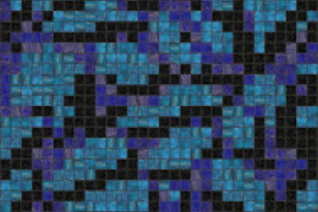 blue trees Traditional Geometric Mosaic by Artaic