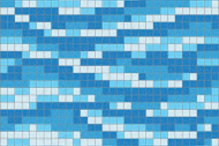 Blue Water Tile Pattern Rolling Lake By Artaic