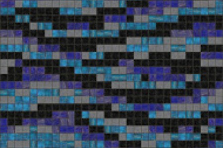 blue water Traditional Geometric Mosaic by Artaic