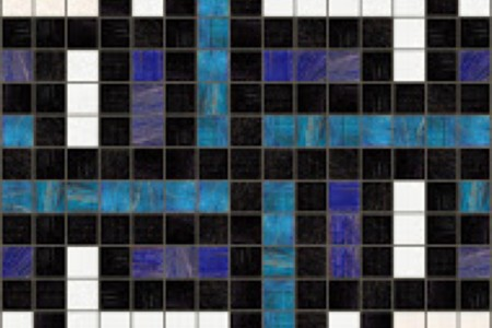 blue weave Traditional Geometric Mosaic by Artaic