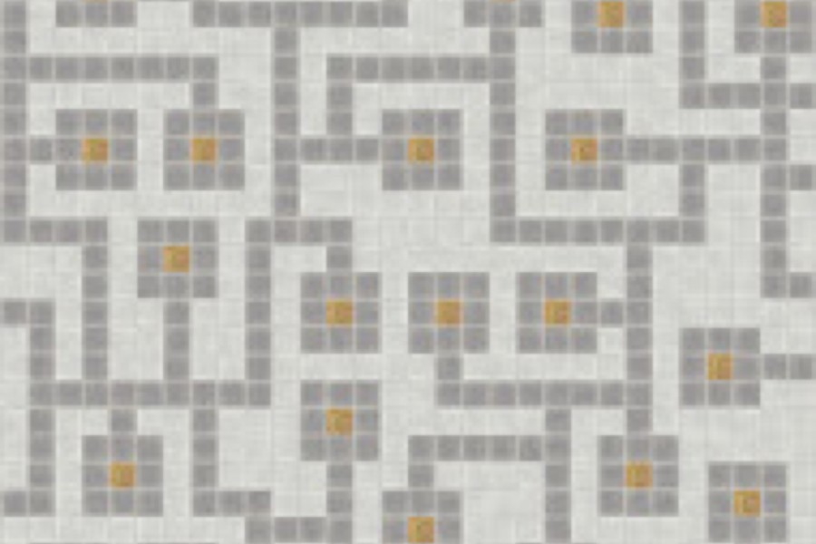 brown circuit board Traditional Geometric Mosaic by Artaic