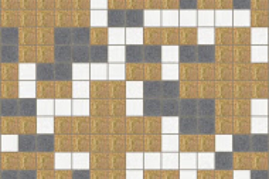 Brown pixels tile pattern positive vibes shimmering sand for Design positive tile