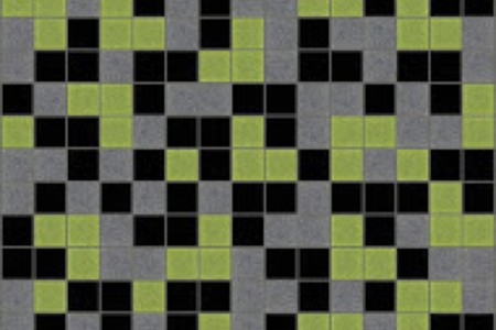 green blend Traditional Geometric Mosaic by Artaic