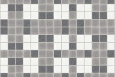grey basket weave Traditional Geometric Mosaic by Artaic