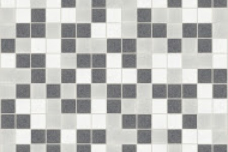 grey blend Traditional Geometric Mosaic by Artaic