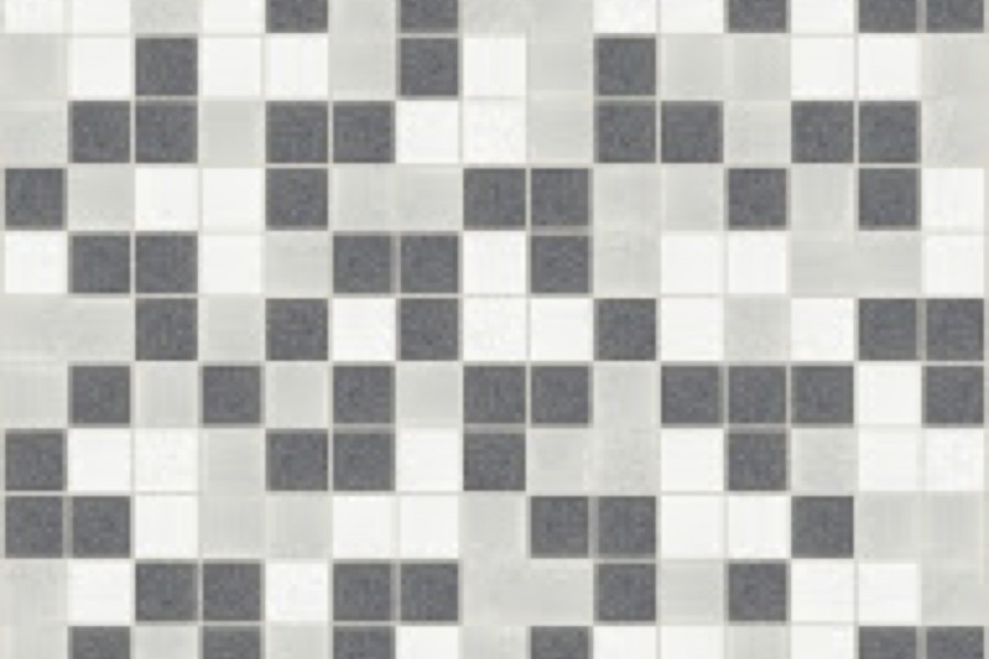 Grey Blend Traditional Geometric Mosaic By Artaic Installation