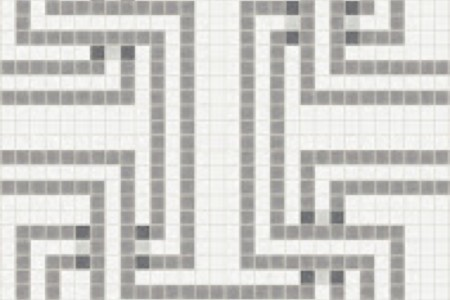 grey greek key Traditional Geometric Mosaic by Artaic