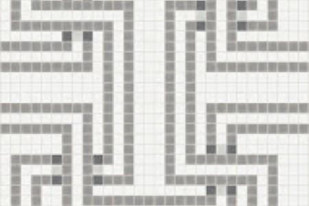 grey greek key Traditional Geometric Mosaic by Artaic grey greek key Traditional Geometric Mosaic installation by Artaic grey greek key Traditional Geometric Mosaic installation by Artaic