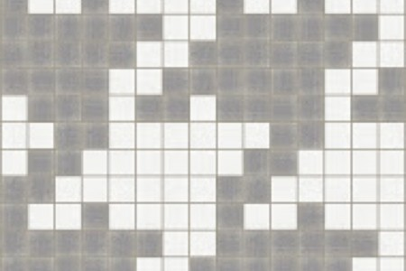 grey houndstooth Traditional Geometric Mosaic by Artaic