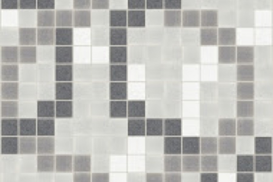 grey lattice Traditional Geometric Mosaic by Artaic