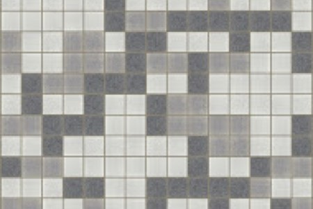 grey pixels Traditional Geometric Mosaic by Artaic