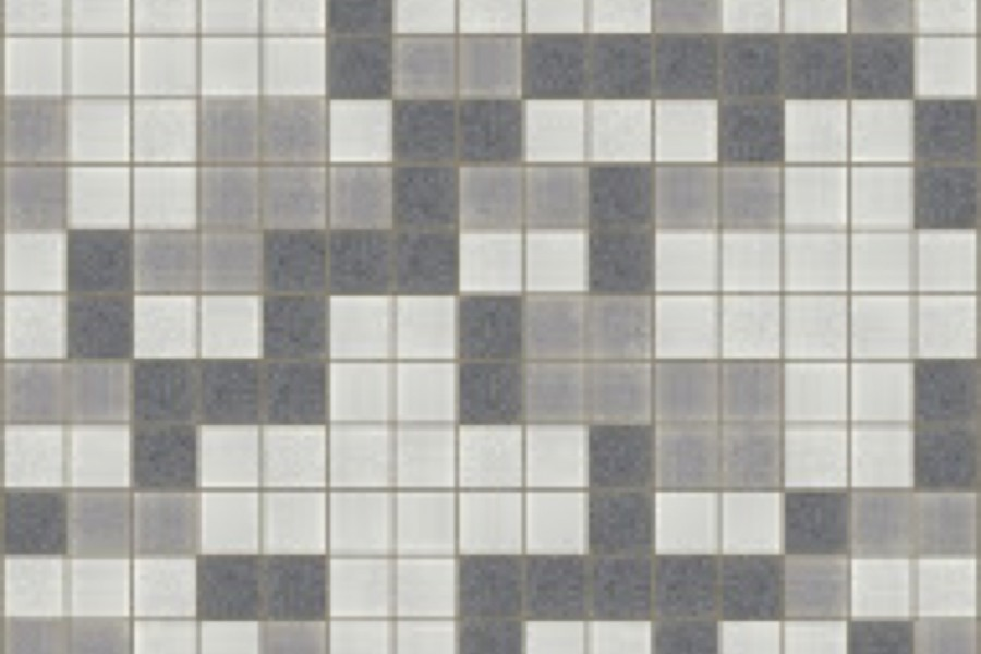 Grey Pixels Traditional Geometric Mosaic By Artaic Installation