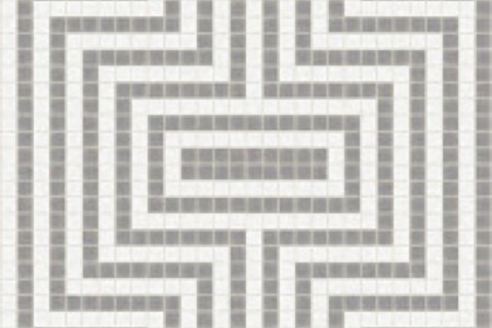 grey statement Traditional Geometric Mosaic by Artaic