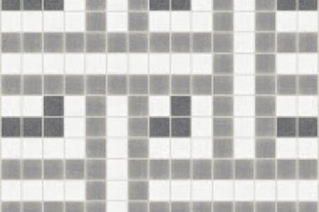 grey weave Traditional Geometric Mosaic by Artaic