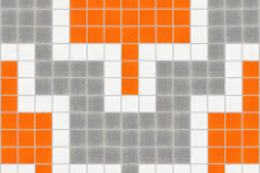 orange chevron Traditional Geometric Mosaic by Artaic orange chevron Traditional Geometric Mosaic installation by Artaic orange chevron Traditional Geometric Mosaic installation by Artaic